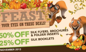 November 2013 Offer of the Month from printing.com
