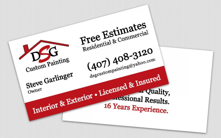 Project dsg custom painting painting company business card dsg custom painting colourmoves