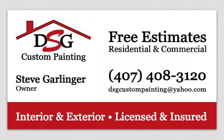 previous next previous next scope painting company business card - Painting Business Cards