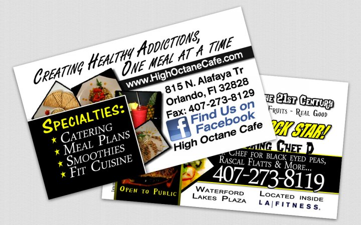Project high octane cafe restaurant business card waterford lakes previous next previous next scope restaurant business card colourmoves