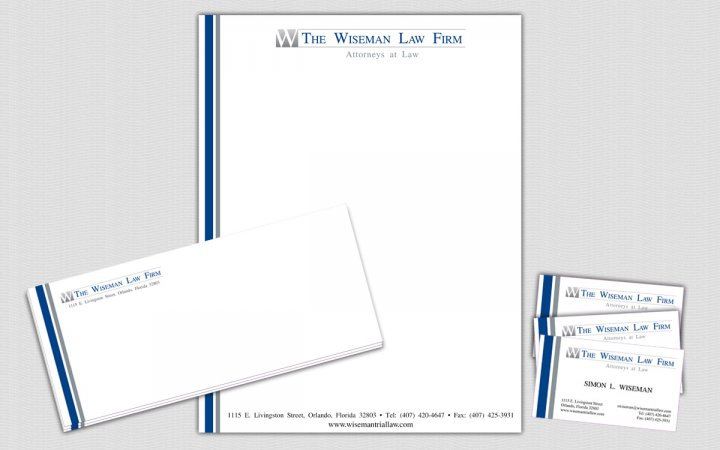 Project The Wiseman Law Firm Law Firm Business Card