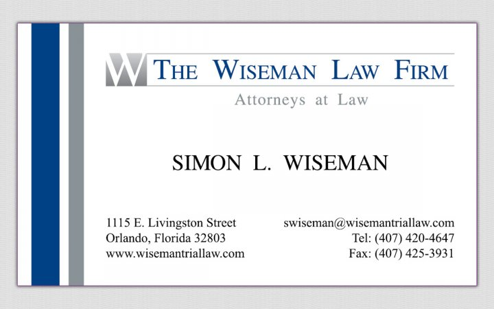 Project the wiseman law firm law firm business card for Firm company