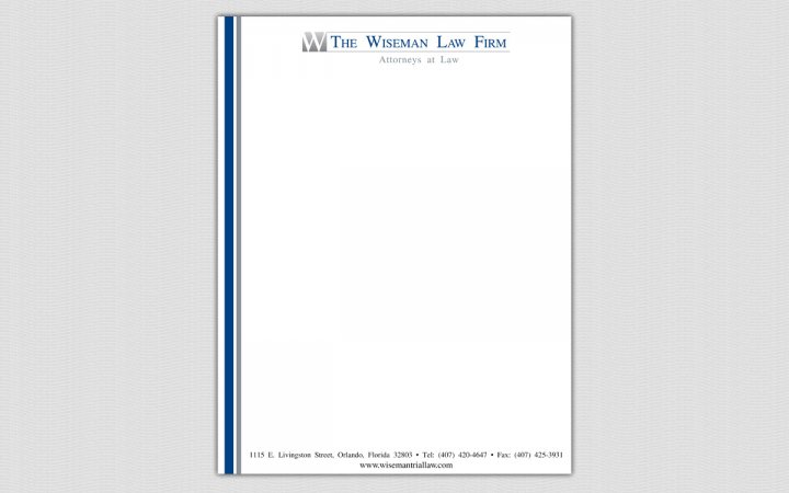 Project the wiseman law firm law firm business card for Law office letterhead template free